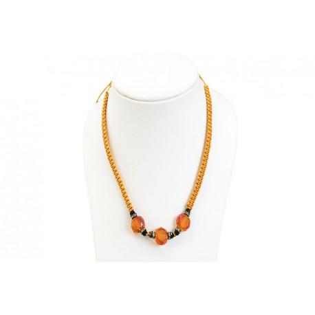 Collar Trenzado Naranja