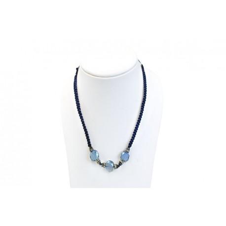 Collar Trenzado Azul