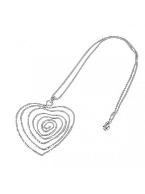 Colgante corazón espiral