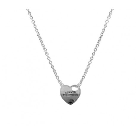014300c1a728 Collar Plata + Colgante corazón always together - Mic Mac Creaciones sl
