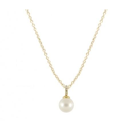 fde43430c11f Collar dorado con colgante perla - Mic Mac Creaciones sl