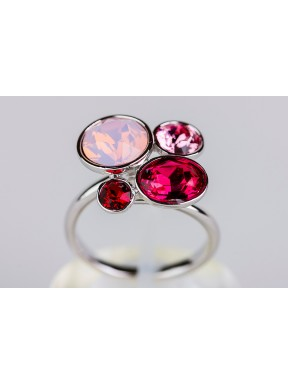 Anillo Swarovski tonos rosas