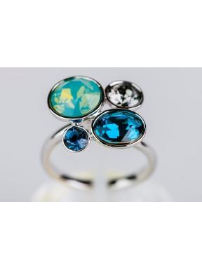 Anillo Swarovski tonos azules