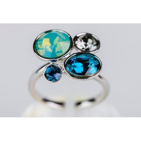 55d0e69f4426 Anillo Swarovski tonos azules - Mic Mac Creaciones sl