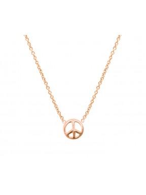Collar Plata Simbolo Paz
