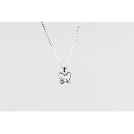 aff87345ae11 Cadena Plata + Colgante Swarovski Mariposa Cristal - Mic Mac Creaciones sl