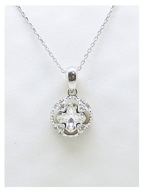 Cadena Plata + colgante Swarovski Cristal