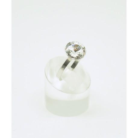 e270b18e66e9 Anillo Plata Rodiada + Swarovski Cristal - Mic Mac Creaciones sl