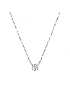 Collar plata flor