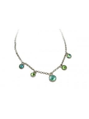 Pulsera cadena con colgantes cristal Swarovski