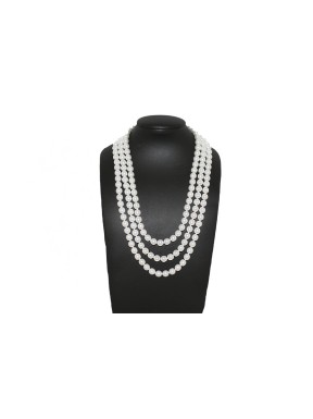 Collar Triple Perlas Blancas 38Cm, 42Cm y 45Cm