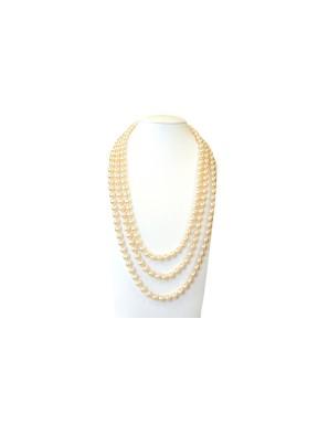 Collar Triple Perlas Crema 42Cm, 48Cm y 52Cm