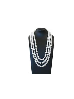 Collar Triple Perlas Blancas 42Cm, 48Cm y 52Cm