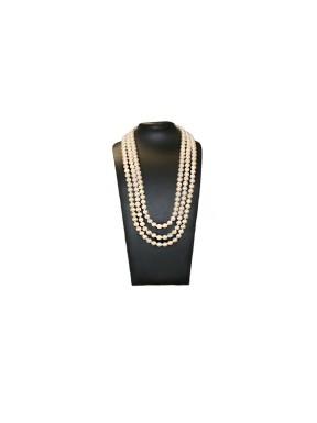 Collar Triple Perlas Crema 48Cm, 52Cm y 56Cm