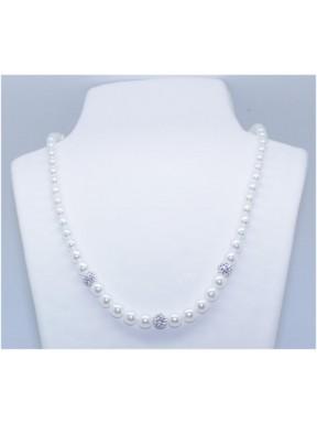 Collar Perla Degradé (6/8) +3 Simil 8MM.