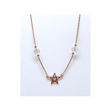 Gargantilla Plata Rosa Centro Estrella