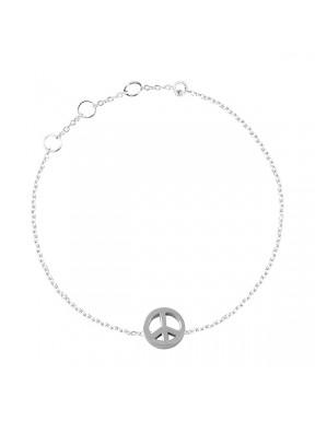 Pulsera plata paz