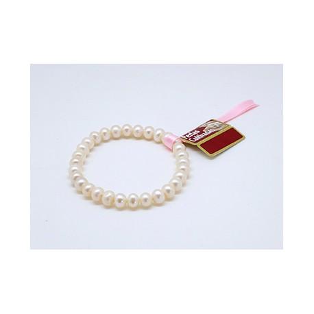 Pulsera Elástica Perlas Cultivadas 9mm